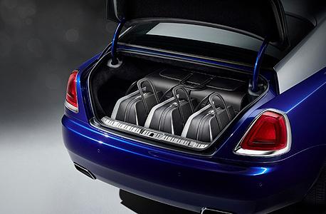 """המזוודות. """"עוצבה במיוחד כדי שניתן יהיה לאחסן אותה בתא המטען של מכונית רולס רויס"""", צילום: rolls Royce"""