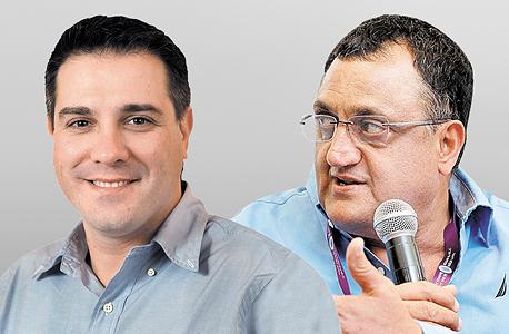 """משמאל: היו""""ר אלי זוגלובק והמנכ""""ל היוצא פיני קמרי. זוגלובק לוקח את המושכות"""