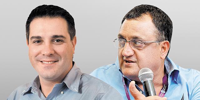 """משמאל: היו""""ר אלי זוגלובק והמנכ""""ל היוצא פיני קמרי. זוגלובק לוקח את המושכות, צילום: עמית שעל, אלעד גרשגורן"""
