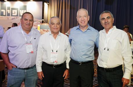 מימין עוזי לוי, יואב גלנט, אבנר לוי ועמי פרטוש, צילום: אוראל כהן
