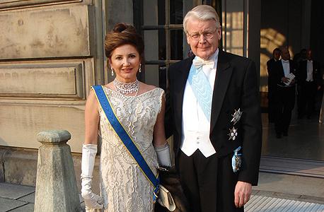 דורית מוסאיוף ובעלה, נשיא איסלנד אולפור גרימסון
