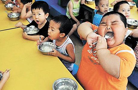 ילדים סינים. השמנה מופרזת