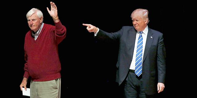 דונלד טראמפ עם בובי נייט, צילום: רויטרס