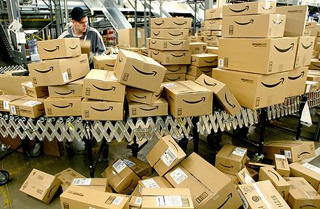 אמזון משלוחים חבילות, צילום: בלומברג