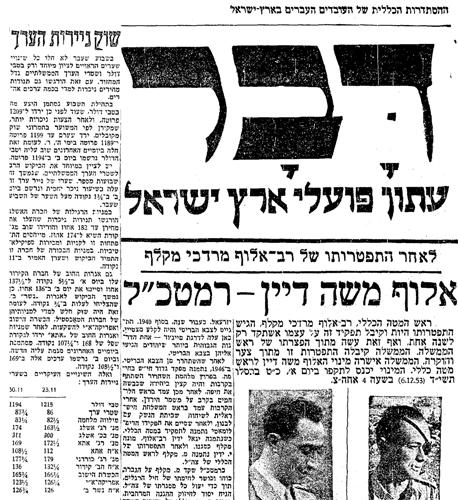 סקירת השוק מעמ' 2 בעיתון היומי, מובאת כאן לצד הכותרת הראשית