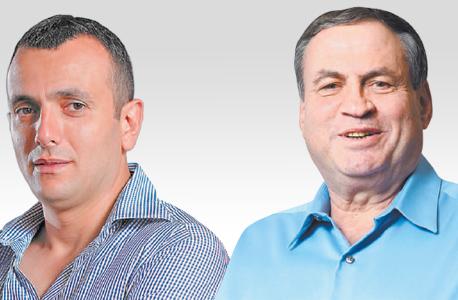 """מימין: יו""""ר מפעל הפיס עוזי דיין ומנכ""""ל משרד האוצר שי באב""""ד"""