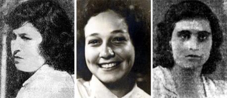 שלוש הלוחמות. מימין: לילה-נעמי יוסף, תמר באומגרט ומרים אוסיה