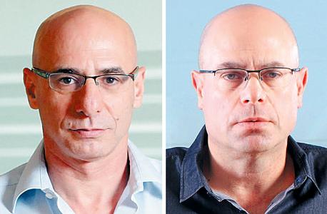 מימין רביב צולר ו שוקי אורן בנק הפועלים, צילום: עמית שעל, אוראל כהן