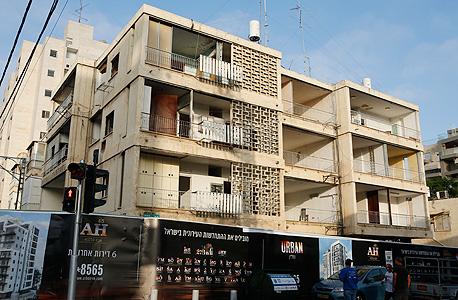 בניין לפני ההריסה- חברת אורבן אבא הלל 45