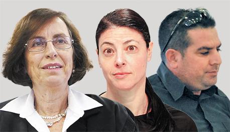 מימין: מני נפתלי, מרב מיכאלי ודיתה פרוז'ינין