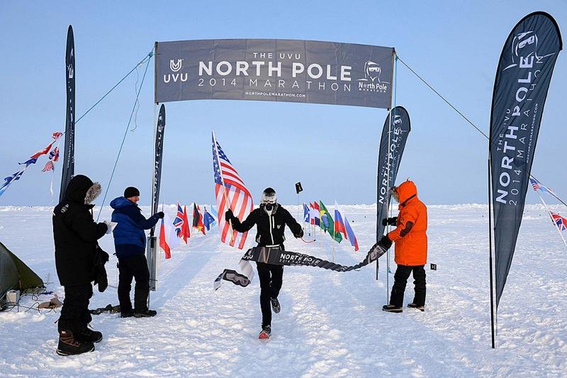 מרתון הקוטב הצפוני. ריצה במינוס 40 מעלות , צילום: איי פי