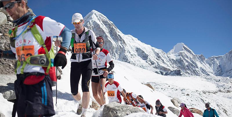 """מרתון האוורסט. הוכתר ע""""י ספר השיאים של גינס כמרתון הגבוה בעולם"""