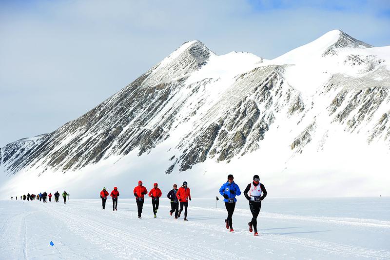 מרתון הקרח באנטרקטיקה, צילום: icemaratho