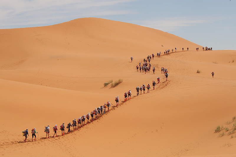 מרתון סהרה. נחשב לאחד הקשים בעולם
