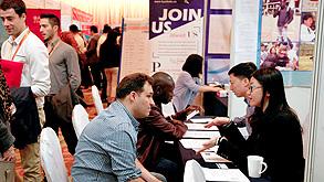 יריד תעסוקה לזרים בבייג'ינג, צילום: אי פי איי