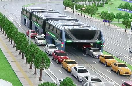 סין. אוטובוס עילי (הדמיה), צילום: youtube / CCTV News