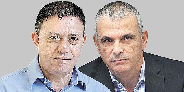 מימין: כחלון וגבאי. אחד מעלה ואחד מוריד - ושניהם מטעים, צילומים: אוראל כהן ואלכס קולומויסקי