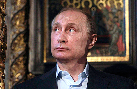 נשיא רוסיה ולדימיר פוטין ביוון, היום. חשש ממימון טרור. צילום: רויטרס, צילום: רויטרס