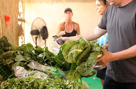 מכירת ירקות במושב