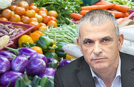 משה כחלון ו ירקות, צילום: אלכס קולומויסקי ושאטרסטוק