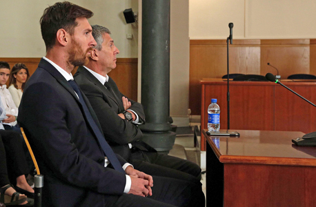 ליאו מסי בית משפט ברצלונה, צילום: איי אף פי
