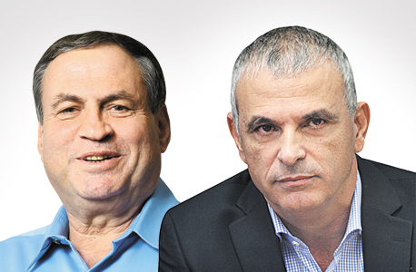עוזי דיין ו משה כחלון, צילום: עמית שעל, אלכס קולומויסקי