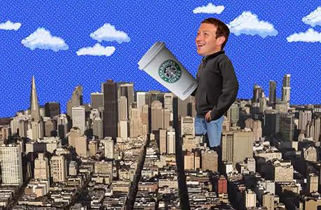 מארק צוקרברג קפה, צילום: thescene.com
