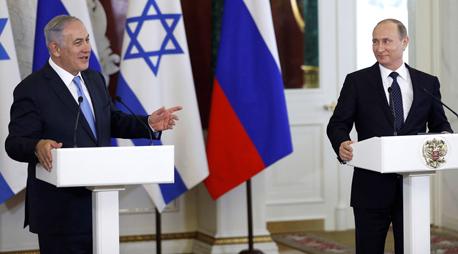 ולדימיר פוטין בנימין נתניהו מוסקבה יוני 2016, צילום: רויטרס
