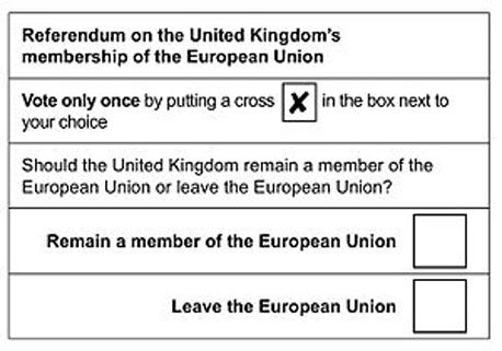 ברקזיט משאל עם בריטניה האיחוד האירופי