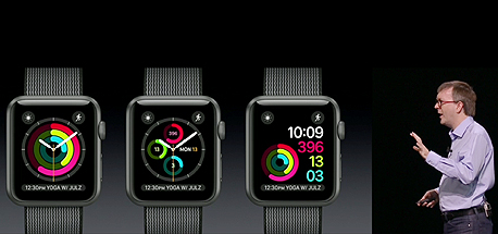 אפל ווטש WatchOS 3, צילום מסך: מתוך אתר אפל