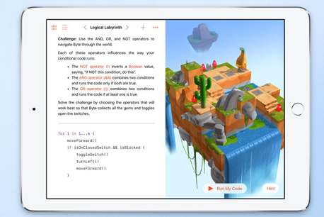 Swift Playgrounds סוויפט אפל , צילום: apple