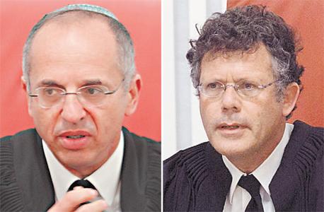 מימין: השופטים יצחק עמית ונעם סולברג. היו חלוקים בשאלת תום הלב