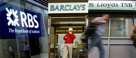 בנקים הבריטים: RBS, ברקליס, לוידס, צילומים: בלומברג