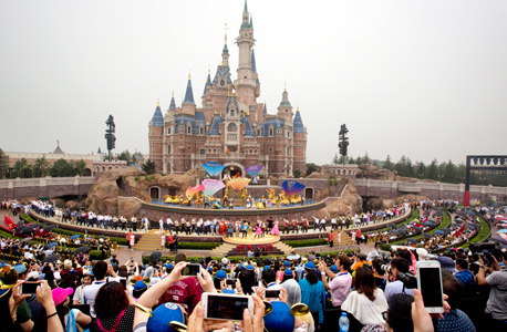פרק שעשועים דיסני שנגחאי סין פתיחה 1, צילום: איי פי