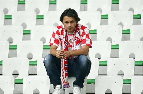 אוהד נבחרת קרואטיה. נראה מבולבל, צילום: איי אף פי