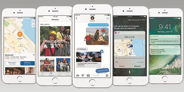 בחינה ראשונה של iOS 10: אפל מתמקדת בצמצום פערים