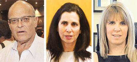 """מימין מנכ""""לית תיגבור אורית בנבנישתי המפקחת על הביטוח דורית סלינגר ובעל סוכנות הביטוח שוקי מדנס, צילום: עמית שעל"""