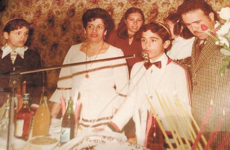 1978 - איציק בנבנישתי בבר המצווה שלו, עם הוריו אהרון ורבקה