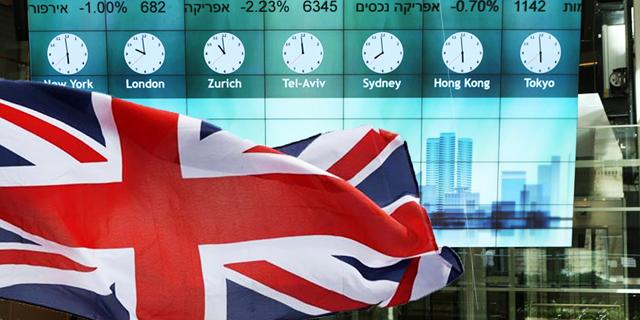 """אפקט הברקזיט צבע את הבורסה באדום: מדד ת""""א 25 איבד 3.2% מערכו"""
