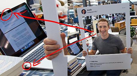 צוקרברג סלוטייפ, צילום: 9to5mac.com