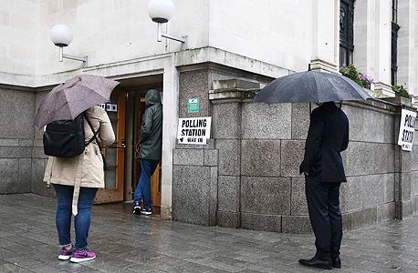 ברקזיט משאל עם בריטניה קלפיות הצבעה 1, צילום: רויטרס