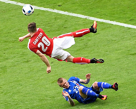 איסלנד נגד אוסטריה. הסטטיסטיקות מראות שהכדורגל היה רחוק מלרגש, צילום: אי פי איי