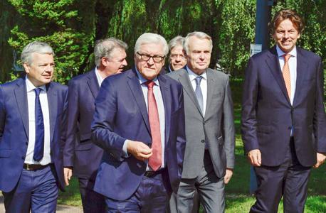 שרי החוץ של האיחוד האירופי לאחר פגישת חירום בעקבות ה ברקזיט, צילום: איי אף פי