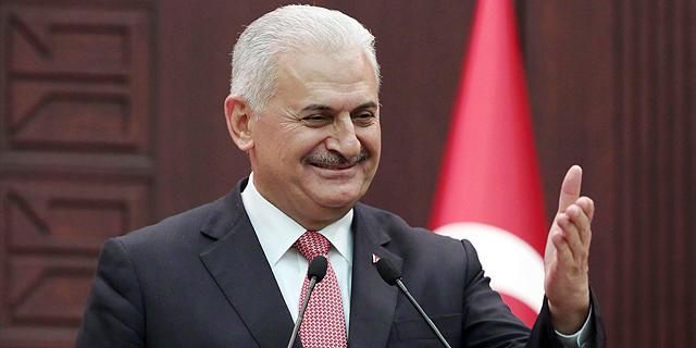 """ראש ממשלת טורקיה, ילדרים. """"נסיון לא חוקי"""", צילום: איי פי"""