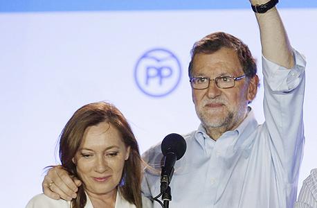 ראש ממשלת ספרד מריאנו ראחוי ורעייתו אלווירה