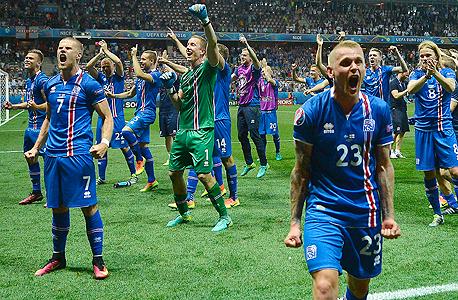 הנבחרת שהראתה את הצמיחה הכי גדולה בזמן היורו היא, באופן מאוד לא מפתיע, נבחרת איסלנד. עמוד הפייסבוק שלה צמח ב-170% במהלך היורו, צילום: אי פי איי