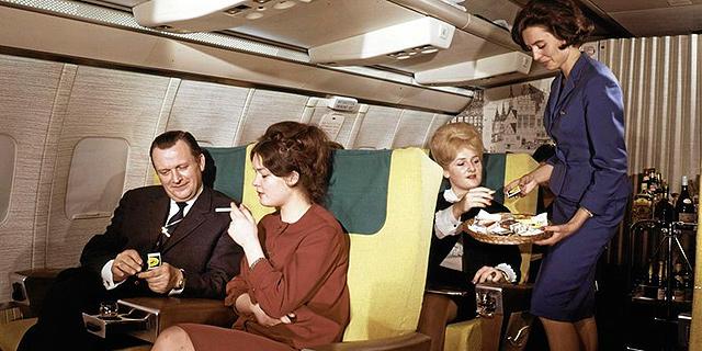 מעשנים בטיסה. עד לפני 28 שנה זה היה מקובל, צילום: לופטהנזה