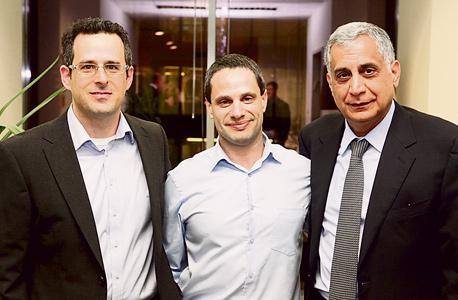 מימין: השותפים המנהלים של קרן נוי פיני כהן, גיל־עד בושביץ ורן שלח