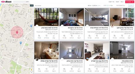אפליקציה שכירת דירות דיפרנט dfrent