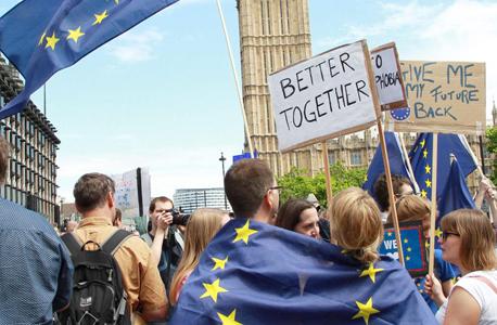 הפגנה נגד ה ברקזיט בשבת ב לונדון, צילום: אי פי איי
